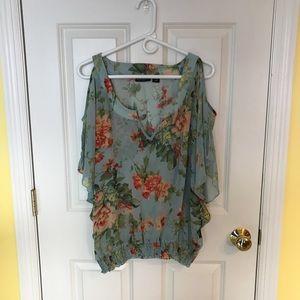 Floral blouse sheer